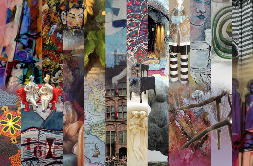 Een collage van werk van de deelnemers.